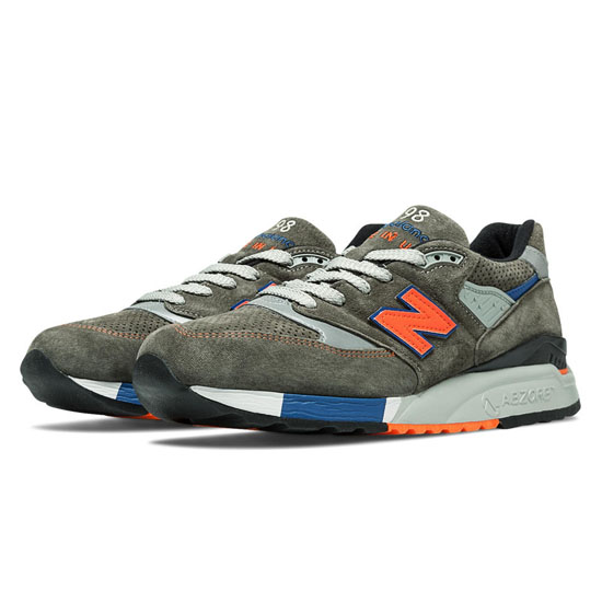 MEN\'S New Balance Connoisseur Painters 998 Olive with Grey & Orange