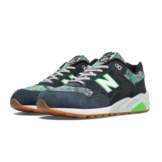 MEN'S New Balance Urban Noise 580 Navy with Green Flash & Grey