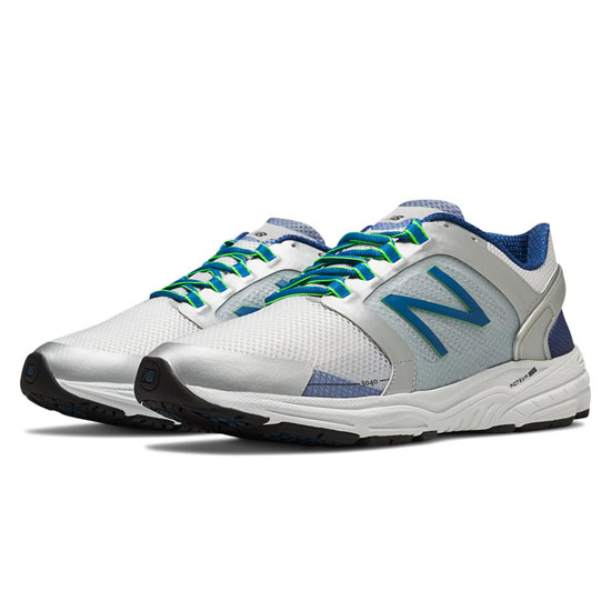 MEN'S New Balance 3040 White with Silver & Classic Blue