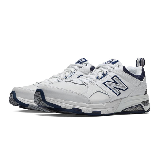 MEN'S New Balance 857 White with Navy