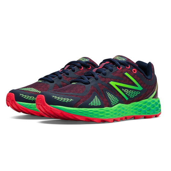 WOMEN\'S New Balance Fresh Foam 980 Trail Bright Cherry with Lead & Green Flash