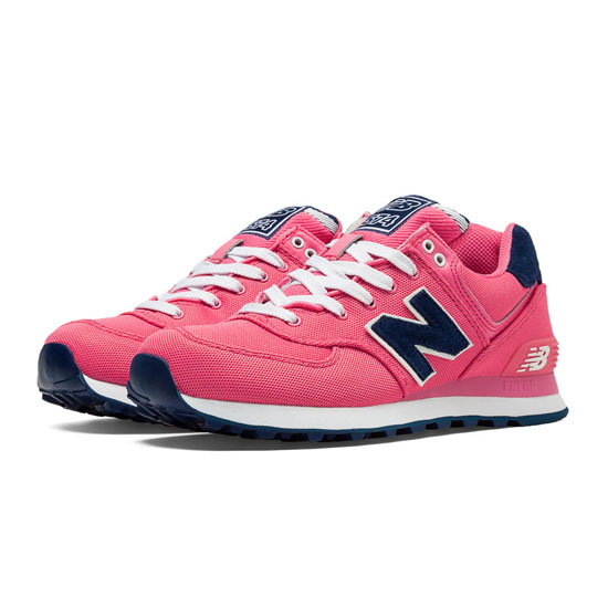 WOMEN'S New Balance 574 Pique Polo Pack Bubble Gum Pink with Navy