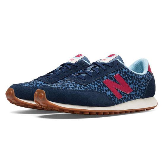 WOMEN'S New Balance 410 Navy with Blue Jay & Red