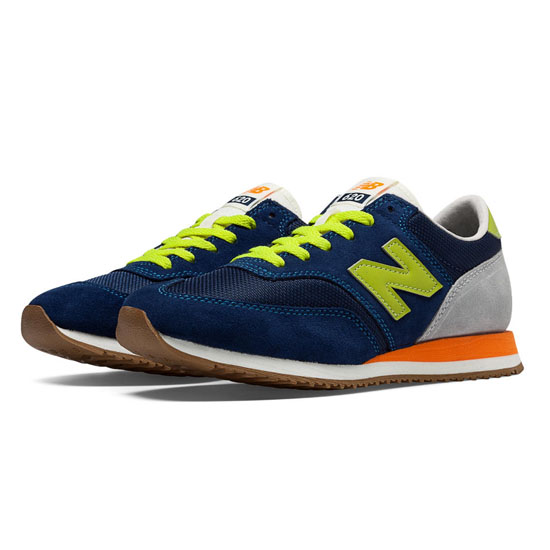 WOMEN'S New Balance 620 Navy with Green Apple & Light Grey