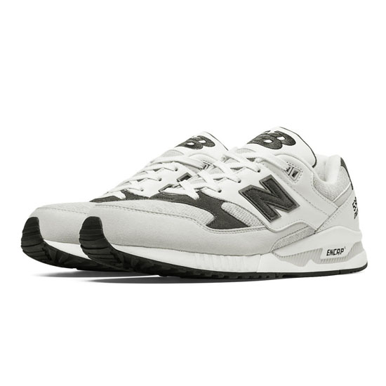 WOMEN'S New Balance 90s Running 530 White with Light Grey & Charcoal