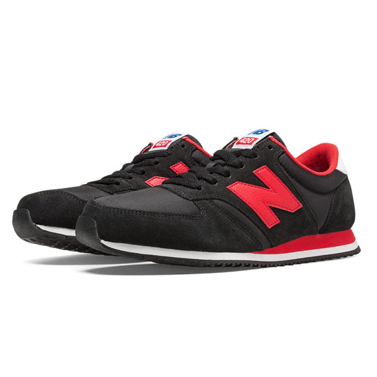WOMEN'S New Balance 70s Running 420 Black with Red