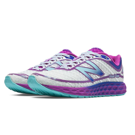 WOMEN'S New Balance Fresh Foam Boracay White with Voltage Violet