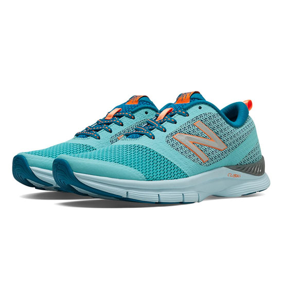 WOMEN'S New Balance 711 Mesh Sea Spray with Wave Blue & Bold Citrus