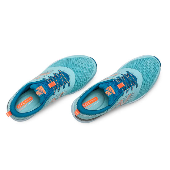 WOMEN\'S New Balance 711 Mesh Sea Spray with Wave Blue & Bold Citrus