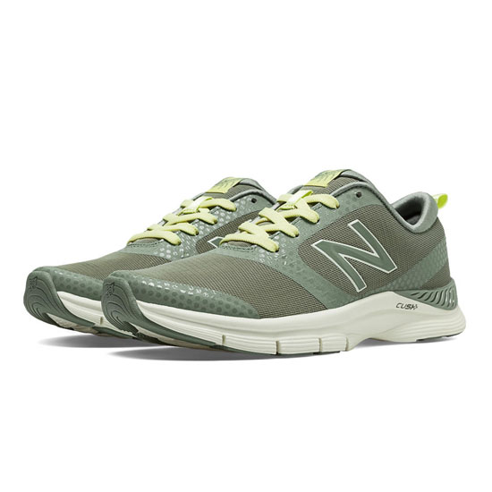 WOMEN'S New Balance 711 Print Olive Green with Light Lime Yellow