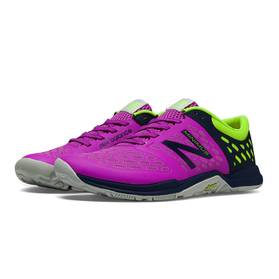 WOMEN'S New Balance Minimus 20v4 Cross-Trainer Voltage Violet with Black & Lime Green