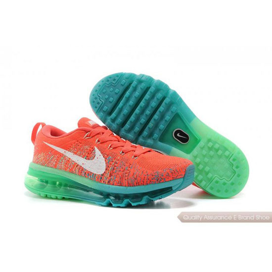 2014 Nike Air Max Flyline Womens Shoes Orange Green