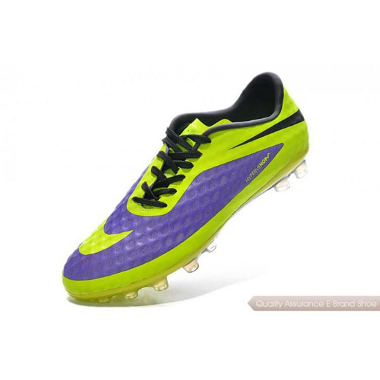 Nike Hypervenom Phantom FG fluorescent green/purple/black Shoes