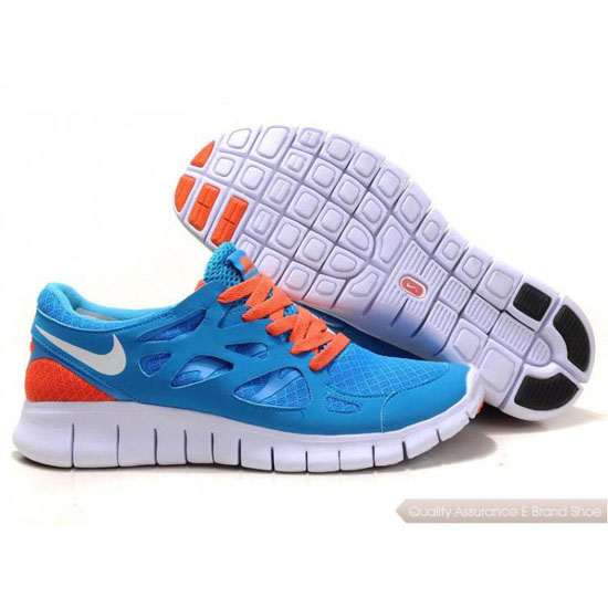 Nike Free 2014 Womens Blue Orange