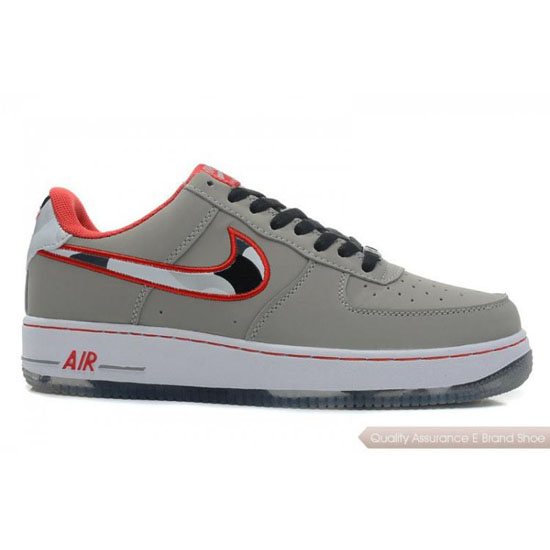 Nike Air Force 1 Womens gray/red/black