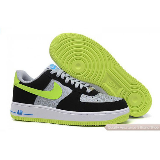 Nike Air Force 1 Womens white/fluorescent yellow