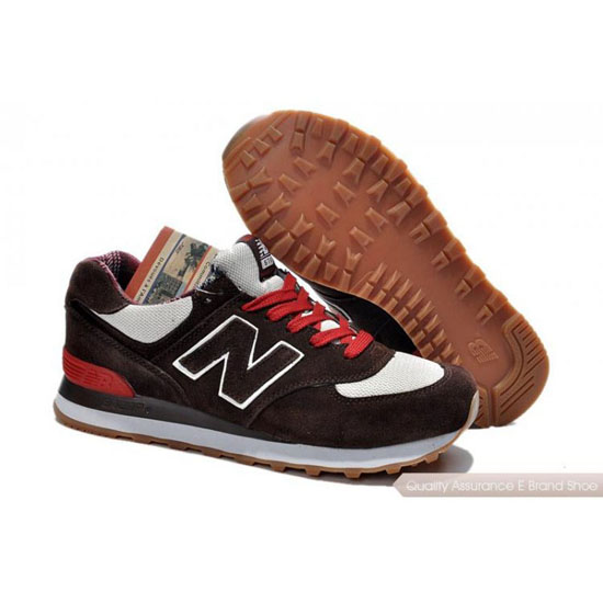 New Balance Mens red/white/brown