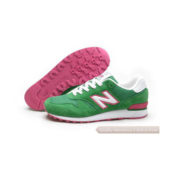 New Balance Womens green/white/peach