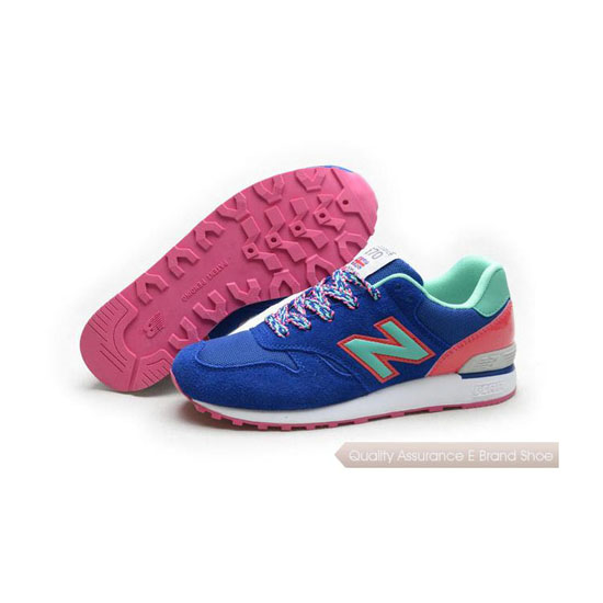 New Balance Womens blue/peach/fluorescent green