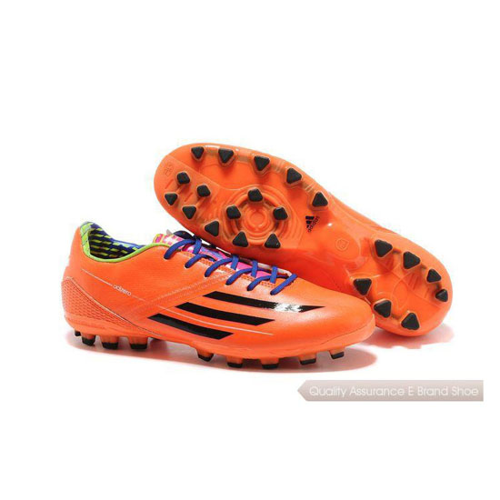 Adidas Soccer Sneakers Mens orange/black/purple