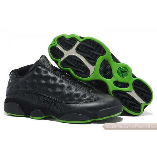 Nike Air Jordan Black Green Shoes