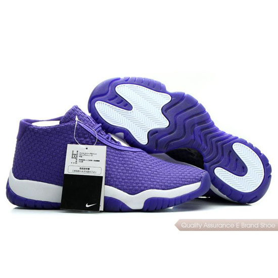 Nike Air Jordan Purple White Shoes