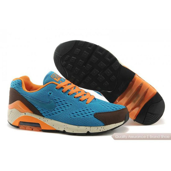 Nike AIR MAX 180 EM Men Light Blue Orange Shoes