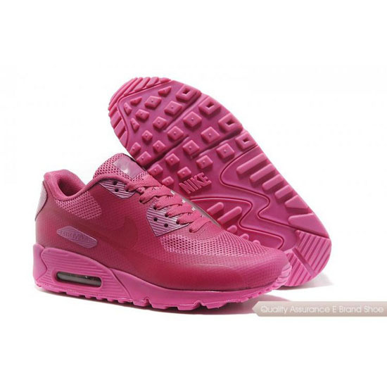 Nike Air Max 90 Hyperfuse Womens Full Pink Shoes