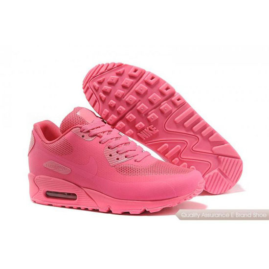 Nike Air Max 90 Hyperfuse Womens Light Red Shoes