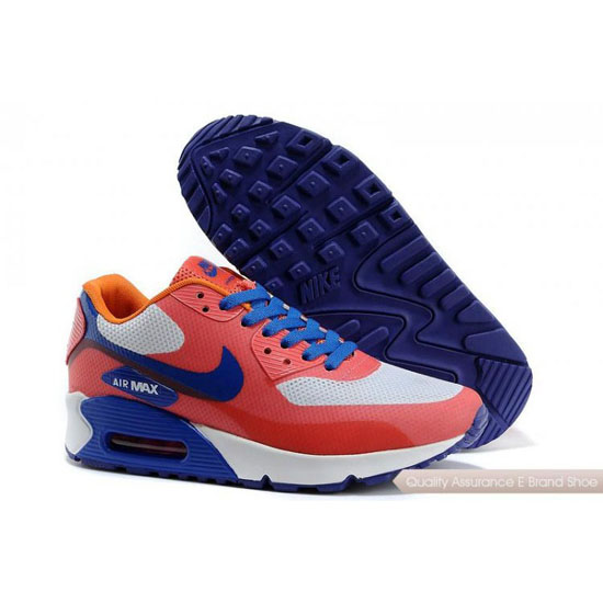 Nike Air Max 90 Hyperfuse Womens Orange Grey Blue Shoes