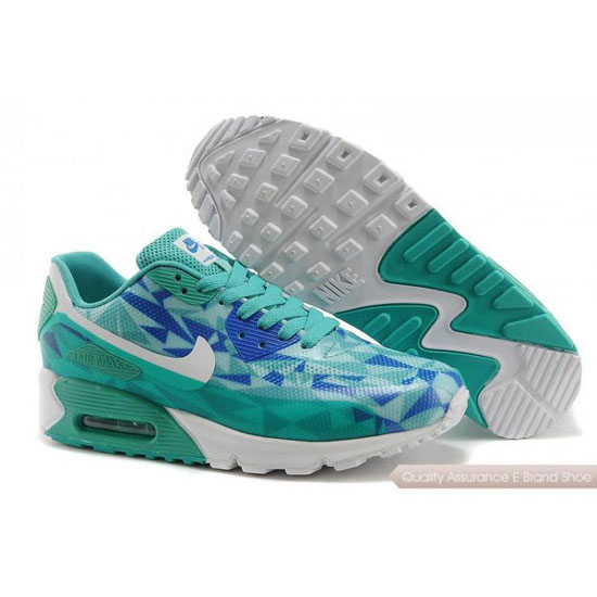 Nike Air Max 90 Hyperfuse Womens Light Green Blue Shoes