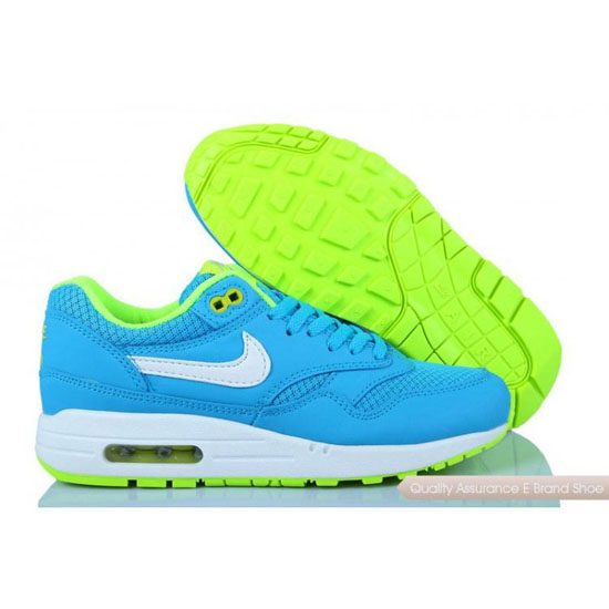 Nike Air Max 1 Womens Light Blue Yellow Shoes