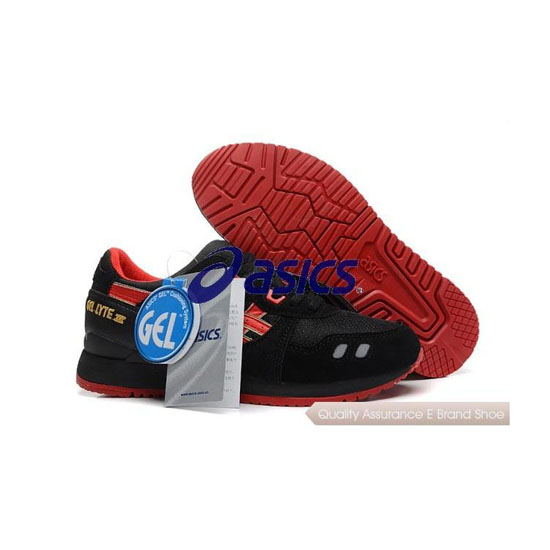 ASICS Gel-LYTE III Mens Black Red