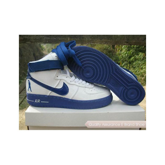 Nike Air Force 1 Mens White Blue Shoes