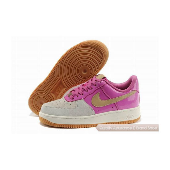 Nike Air Force 1 Womens Pink White Shoes