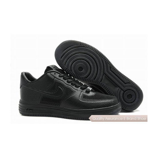 Nike Air Force 1 Mens All Black Shoes