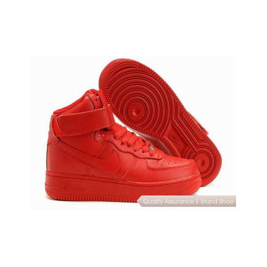 Nike Air Force 1 Womens All Red Shoes