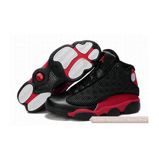 Nike Air Jordan 13 Black-Red Sneakers