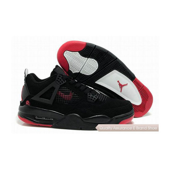 Nike Air Jordan 4 Black Red Sneakers
