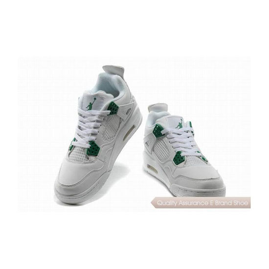 Nike Air Jordan 4 Retro White/Green Sneakers