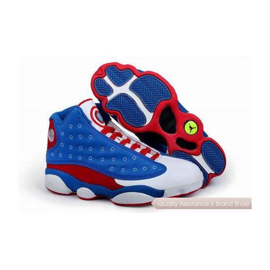 Nike Air Jordan 13 Captain America Blue White Red Sneakers