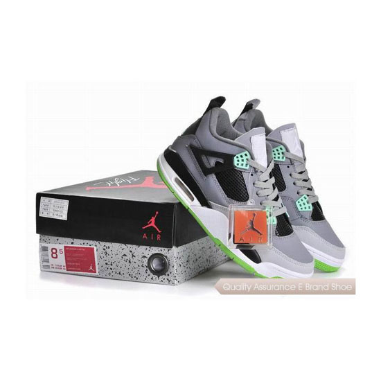Nike Air Jordan 4 IV Grey Green Sneakers
