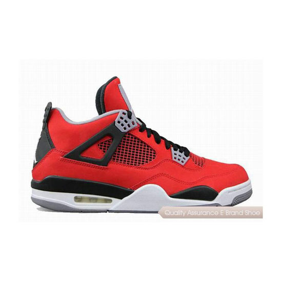 Nike Air Jordan 4 Womens Fire Red Nubuck Sneakers