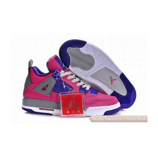 Nike Air Jordan 4 Womens Pink/Purple Sneakers