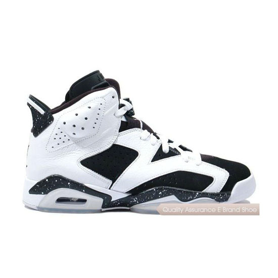 Nike Air Jordan 6 White/Black-Speckle Sneakers