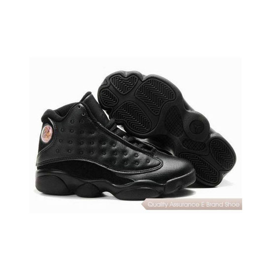 Nike Kids Air Jordan 13 All Black Sneakers