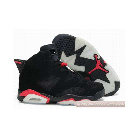 Nike Air Jordan 6 Mesh Black Red Sneakers