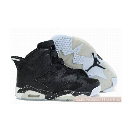 Nike Air Jordan 6 Mesh Black White Sneakers
