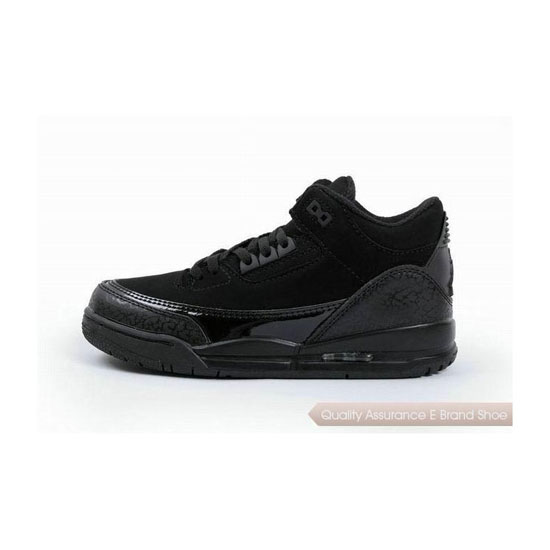 Nike Kids Jordan 3 Charcoal Black Sneakers