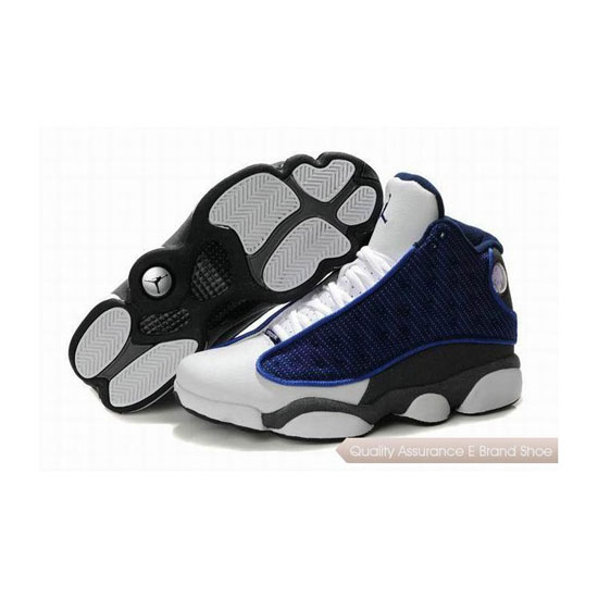 Nike Air Jordan 13 Navy White Grey Sneakers